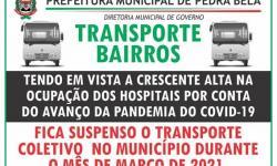 Prefeitura suspende Transporte Coletivo