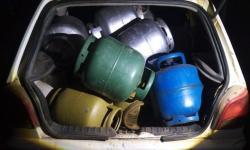Quadrilha de roubo de gás é presa pela PM, em Tuiuti