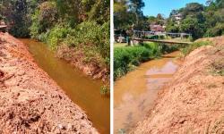 De olho no período de chuvas, município começa a fazer a limpeza de córregos