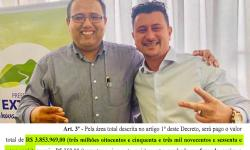 Prefeito assinou decreto de desapropriação de área da família do presidente da Câmara, por quase R$ 4 milhões