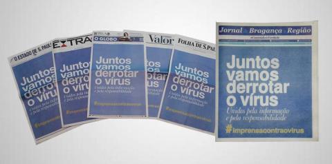 Jornais brasileiros unificam capas no combate à pandemia