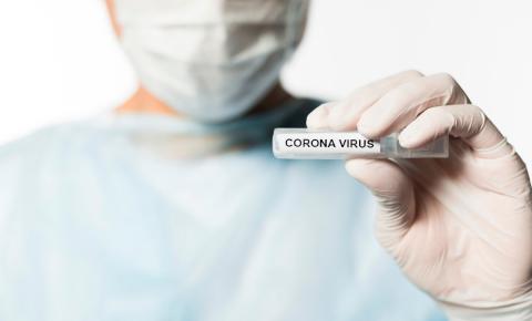Profissional da saúde está com coronavírus