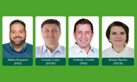 Quatro candidatos estão na disputa majoritária, uma é mulher