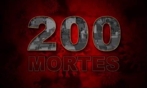 Município chega a 200 vítimas fatais