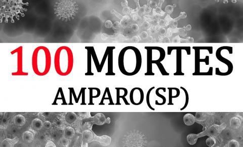 100 mortes por Covid-19 em Amparo