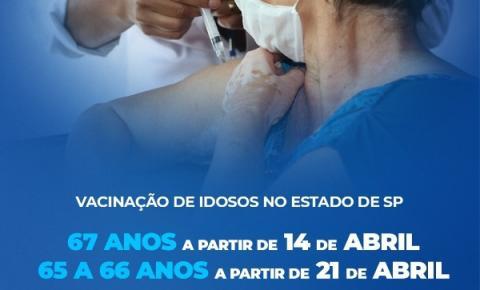 Governo de São Paulo abre calendário para novas idades