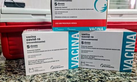 Aberto agendamento para 1ª dose de vacina contra a Covid-19