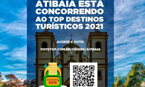 Atibaia concorre ao prêmio Top Destinos Turísticos 2021