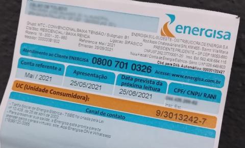 Energisa orienta sobre a importância de  manter a titularidade da conta de luz atualizada