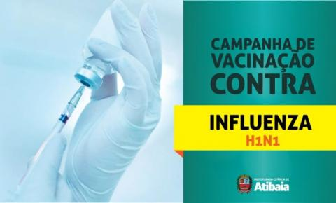 Atibaia começa a vacinar pessoas acima de 6 meses de idade