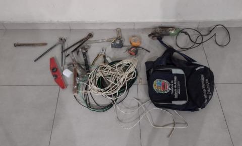 Homem é preso em flagrante com produtos roubados
