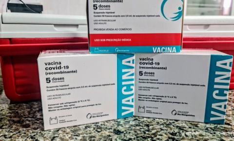 Saúde abre hoje, às 18h, agendamento para 2ª dose da Astrazeneca