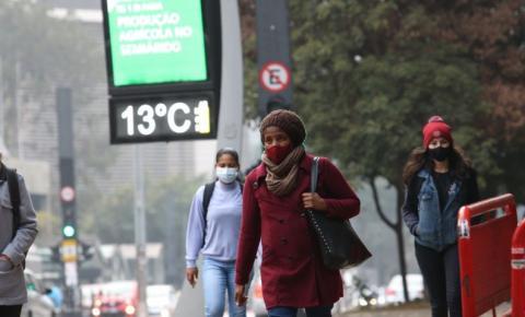 Brasil terá quedas bruscas de temperatura a partir de quarta