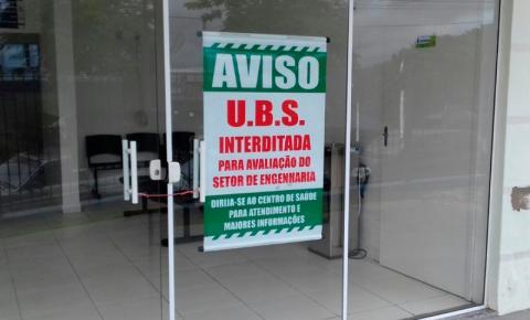 Prefeitura não se manifesta sobre interdição de UBS