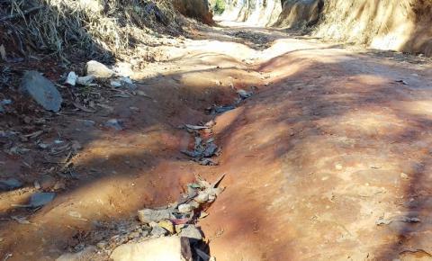 Chuvarada faz chover reclamações de  estradas rurais