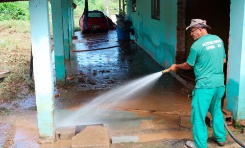 Município aceita doações para ajudar vítimas da chuva