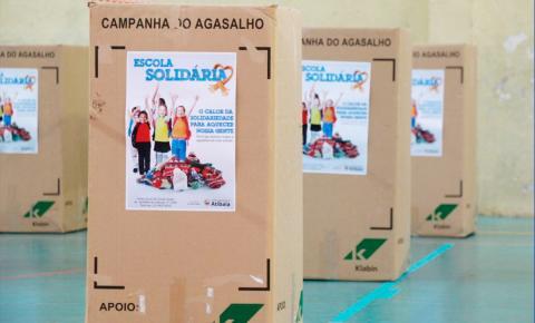 """""""Desafio Escola Solidária"""", visa aumentar arrecadações da Campanha do Agasalho"""