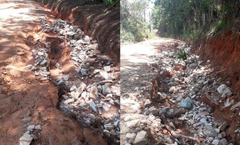 Moradores reclamam das más condições das estradas rurais